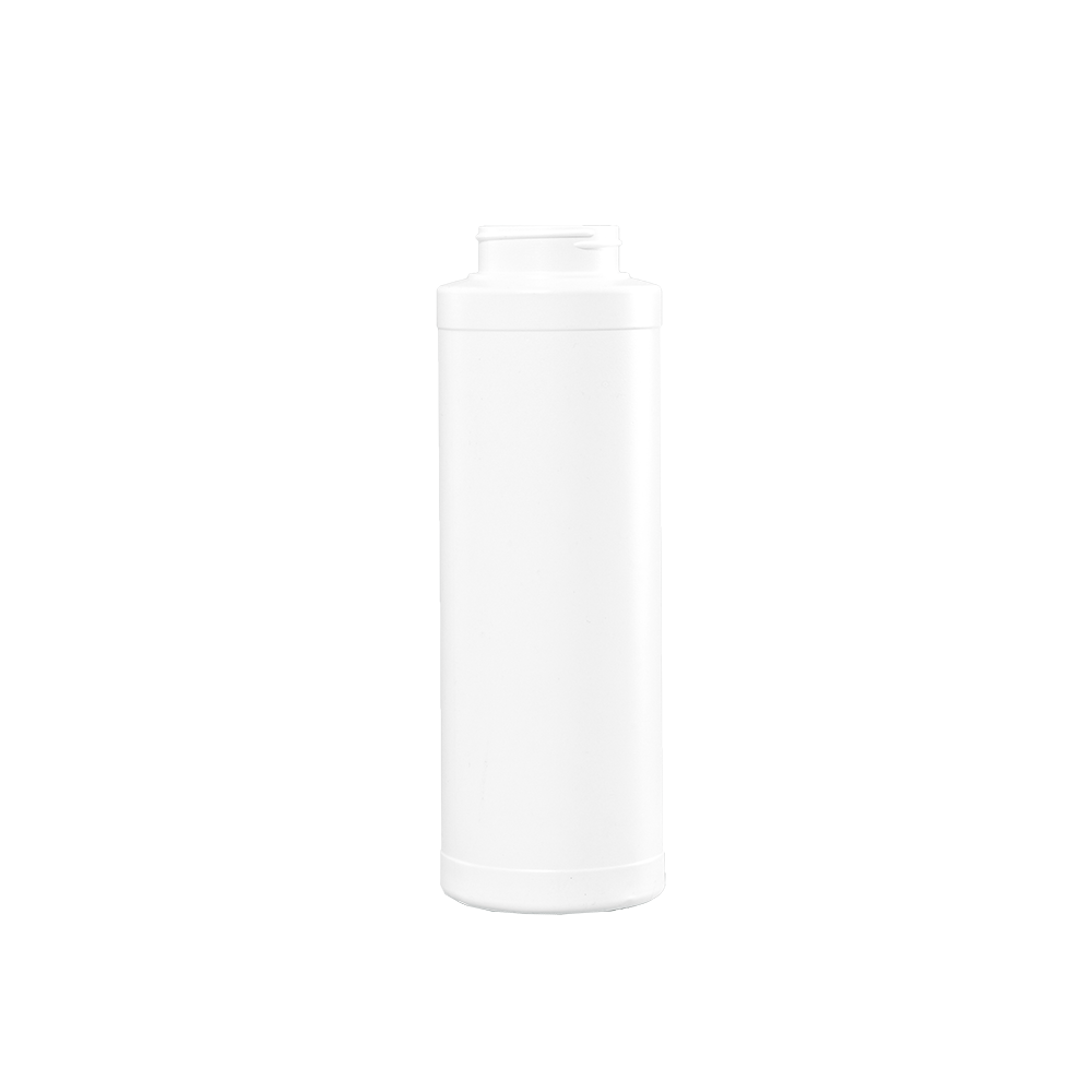 32 oz White HDPE Plastic Wide Mouth Cylinder Container, 53-400