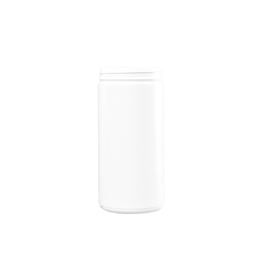 32 oz White HDPE Plastic Wide Mouth Cylinder Container, 89-400