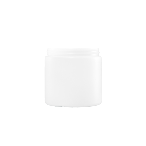 16 oz Natural HDPE Plastic Wide Mouth Cylinder Container, 89-400