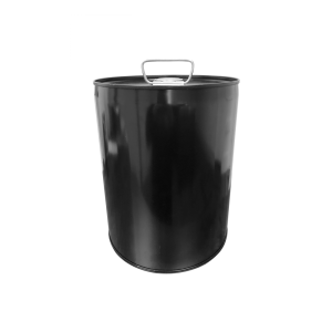 5 Gallon Black 24 Gauge RFO Metal Tight Head Pail w/Dust Cap, Unlined