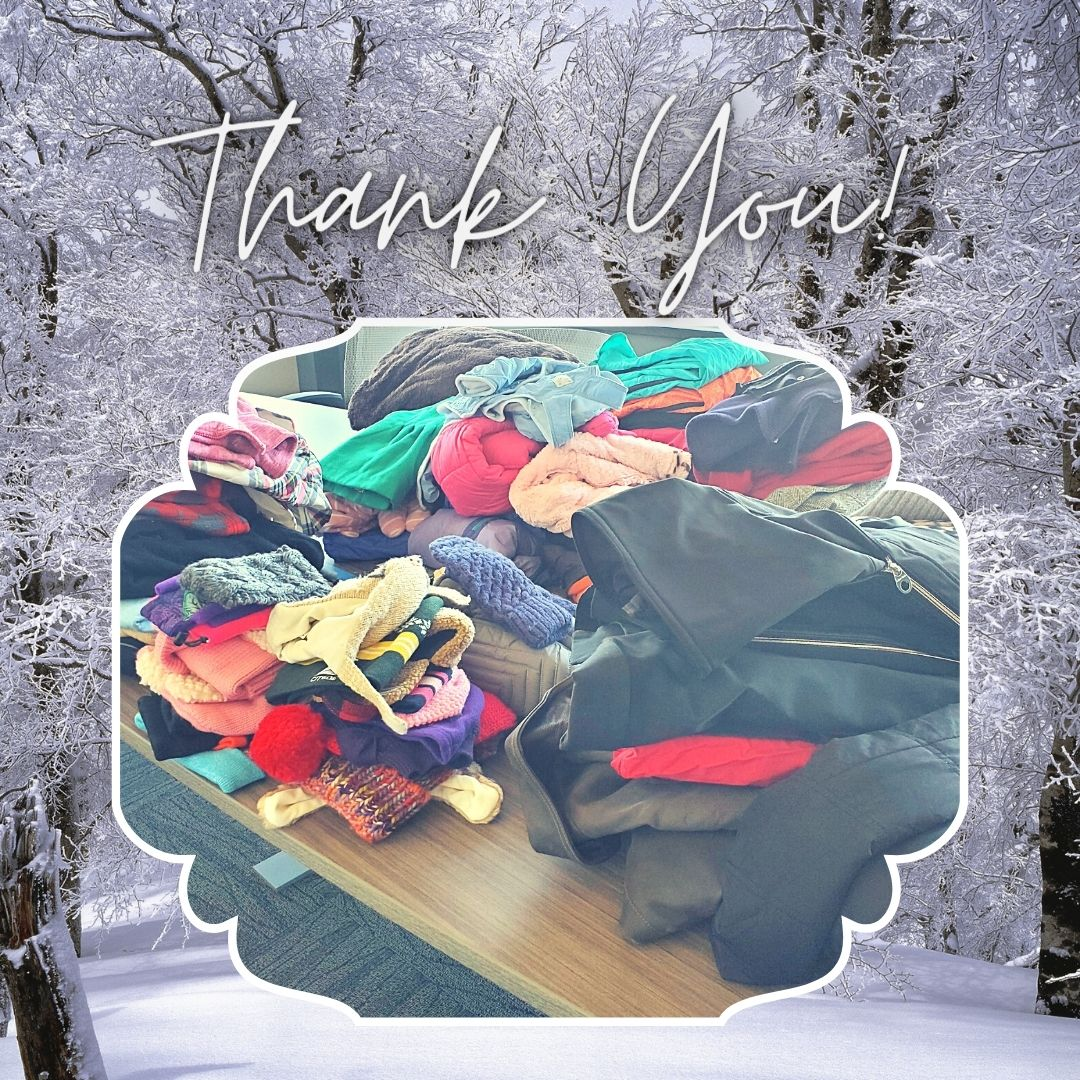 Winter clothing drive thank you
